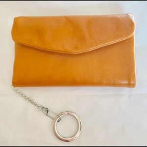 NWT🖤HOBO Genuine Leather Keychain Trifold Wallet